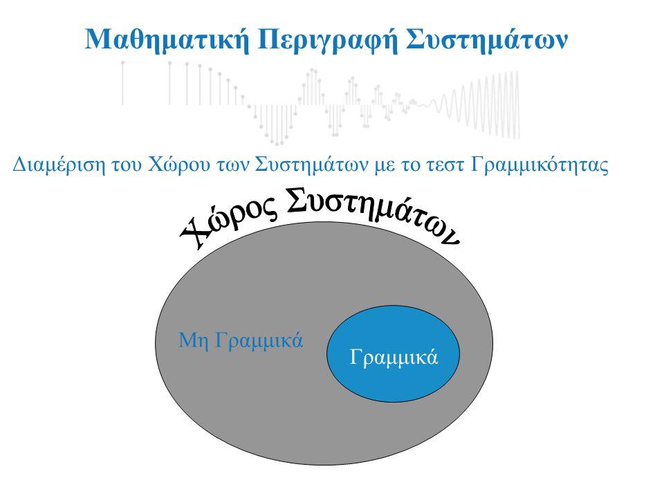 Μαθηματική Περιγραφή Συστημάτων Σχηματικά διαγράμματα Συστημάτων