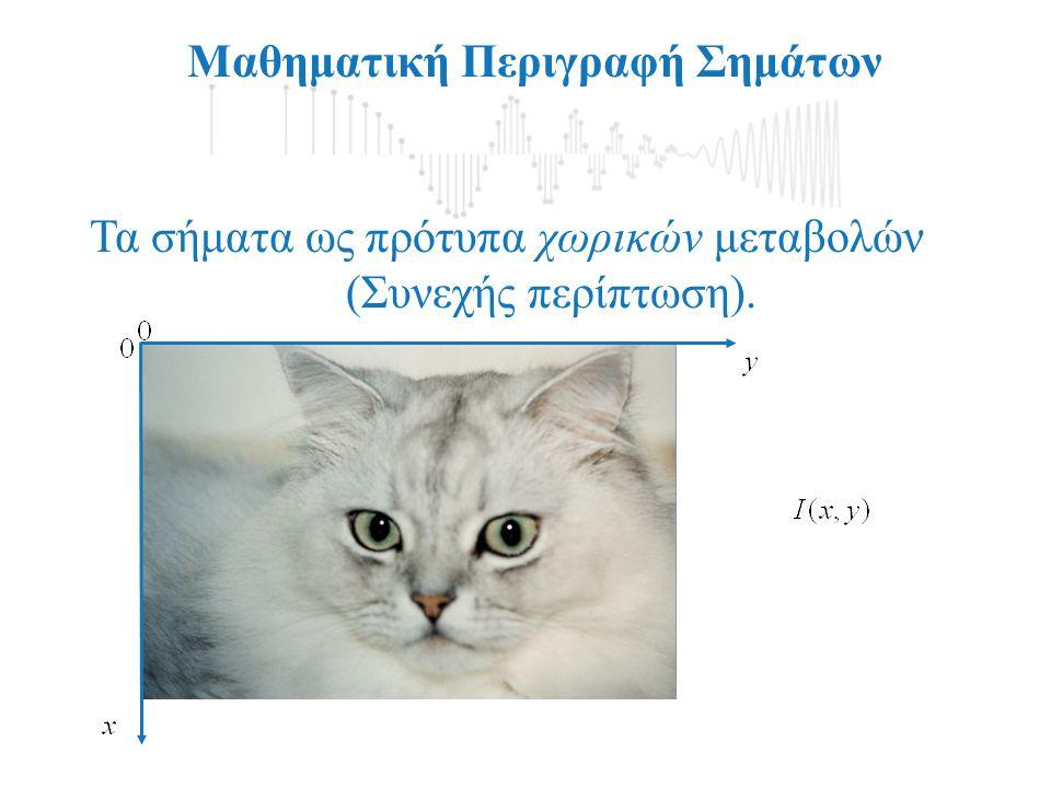 Μαθηματική Περιγραφή Σημάτων Περιγραφή Σημάτων στο Χώρο της Συχνότητας-Φάσμα Σήματος Περιοδικά Σήματα:, για κάθε t Αν: Τότε το: είναι ένα περιοδικό σήμα με θεμελιώδη συχνότητα f 0.