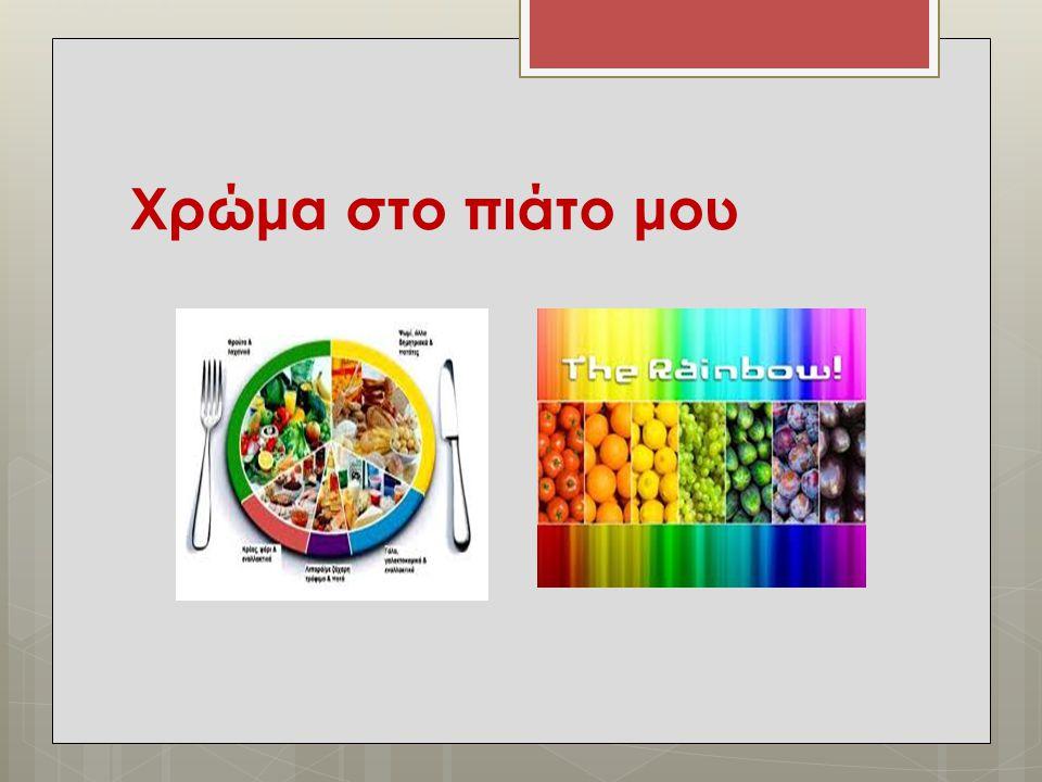 Χρώμα στο πιάτο μου