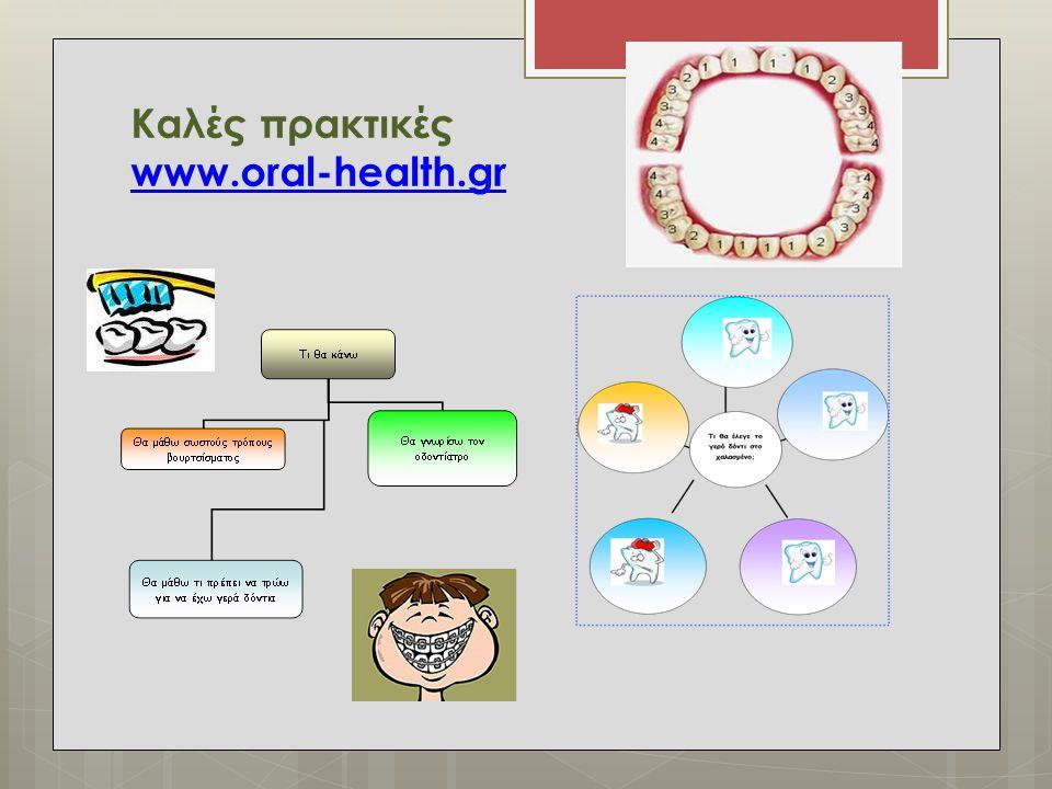 Καλές πρακτικές www.oral-health.gr www.oral-health.gr
