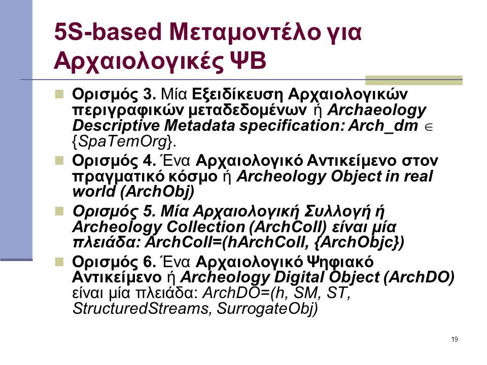 19 5S-based Μεταμοντέλο για Αρχαιολογικές ΨΒ Ορισμός 3.