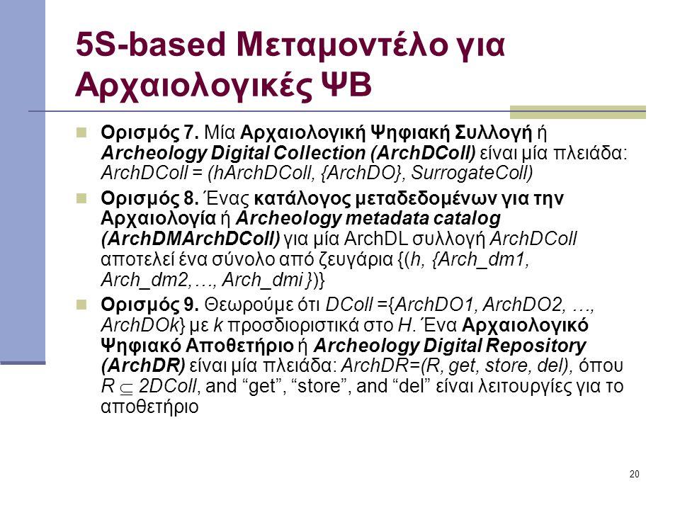 20 5S-based Μεταμοντέλο για Αρχαιολογικές ΨΒ Ορισμός 7.