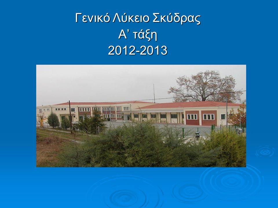Γενικό Λύκειο Σκύδρας Α' τάξη 2012-2013