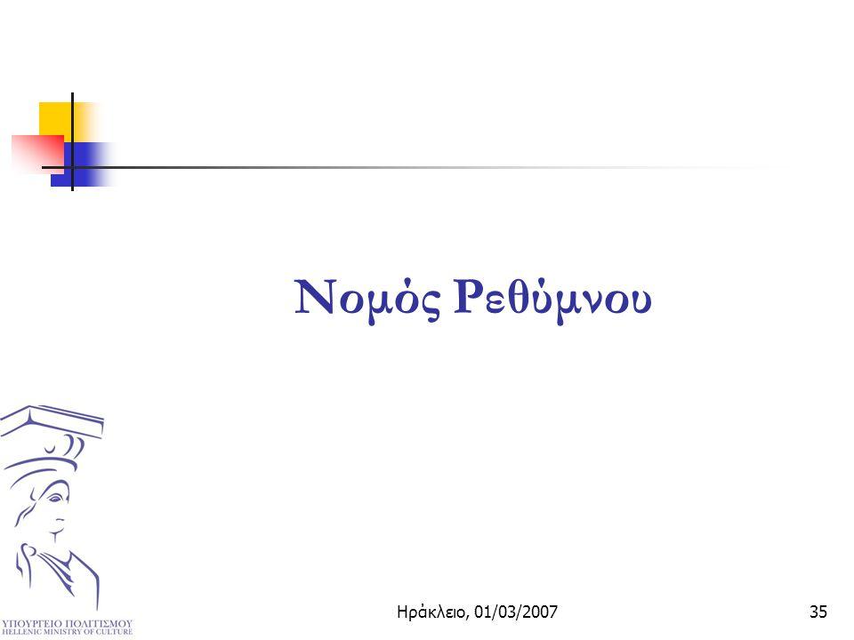 Ηράκλειο, 01/03/200735 Νομός Ρεθύμνου