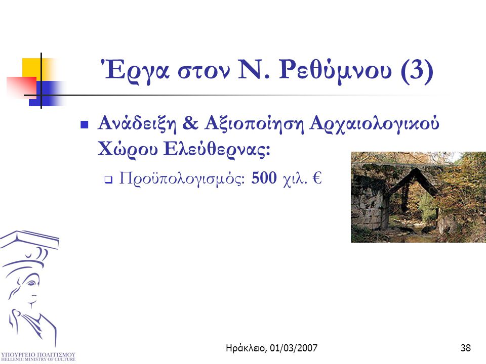 Ηράκλειο, 01/03/200738 Έργα στον Ν.
