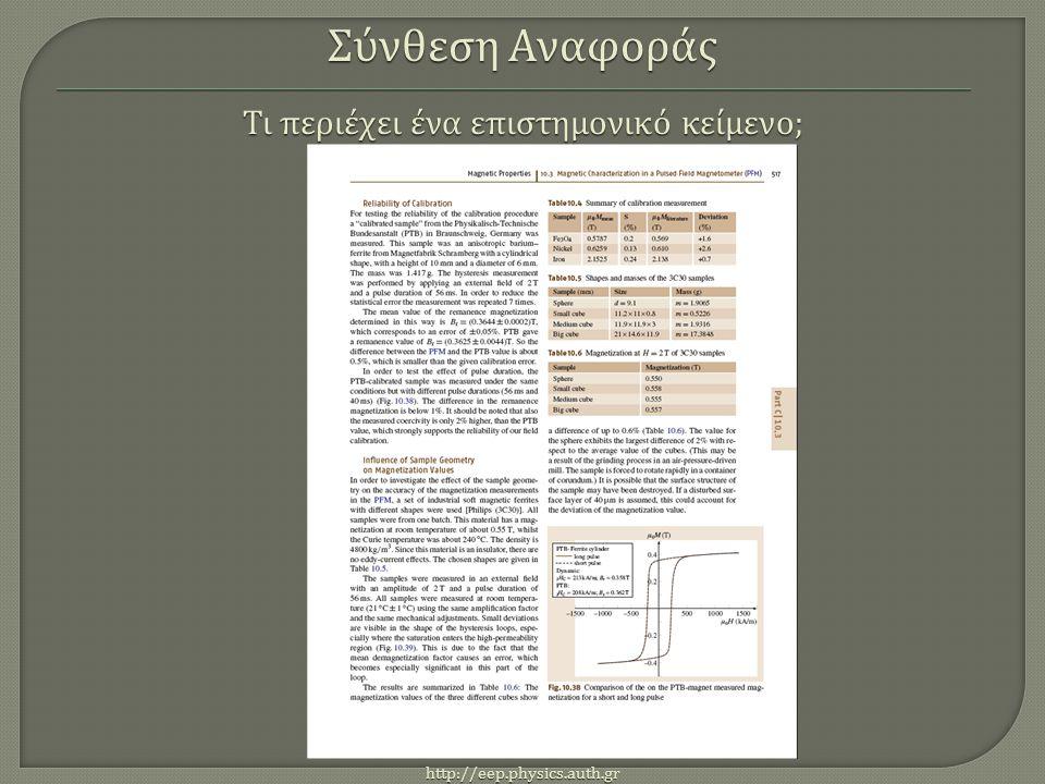 http://eep.physics.auth.gr Στο παράδειγμα της εικόνας βλέπουμε μια παράγραφο με υπογραμμισμένο το όνομα « Βερν ».