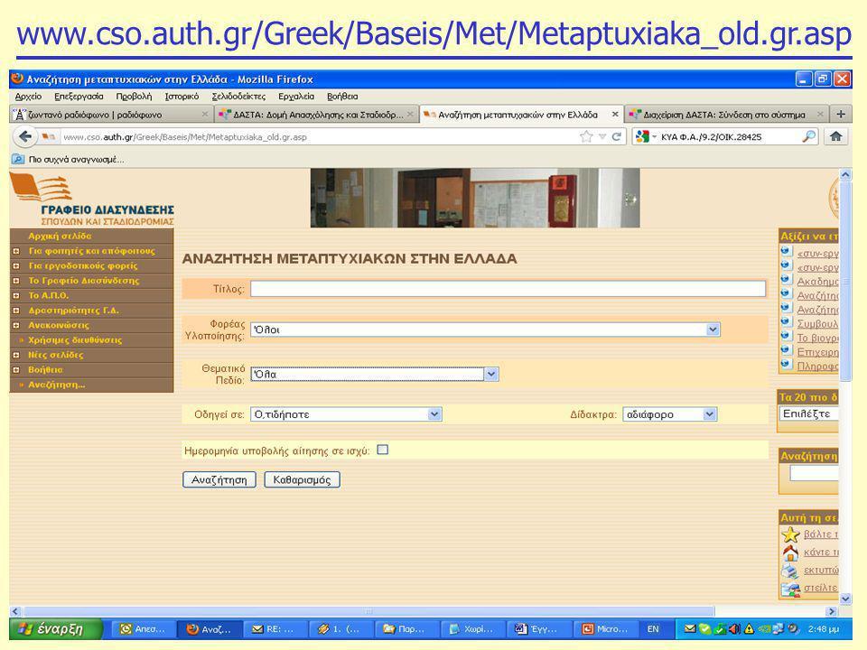 www.cso.auth.gr/Greek/Baseis/Met/Metaptuxiaka_old.gr.asp
