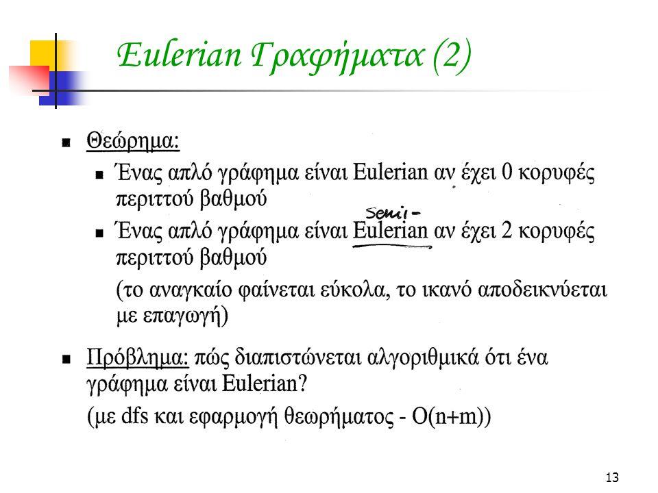 13 Eulerian Γραφήματα (2)