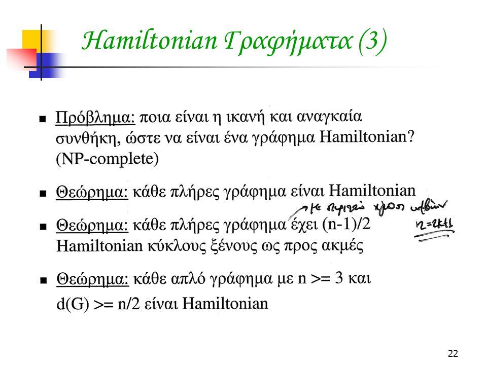 22 Hamiltonian Γραφήματα (3)