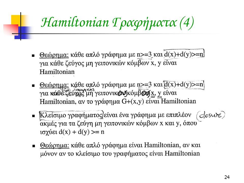 24 Hamiltonian Γραφήματα (4)