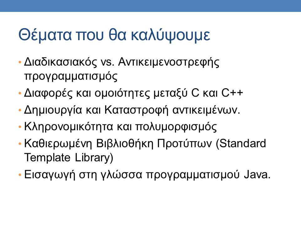 Ένα άλλο παράδειγμα Έστω μια εφαρμογή διαχείρισης Αριθμών Φορολογικού Μητρώου (ΑΦΜ)….