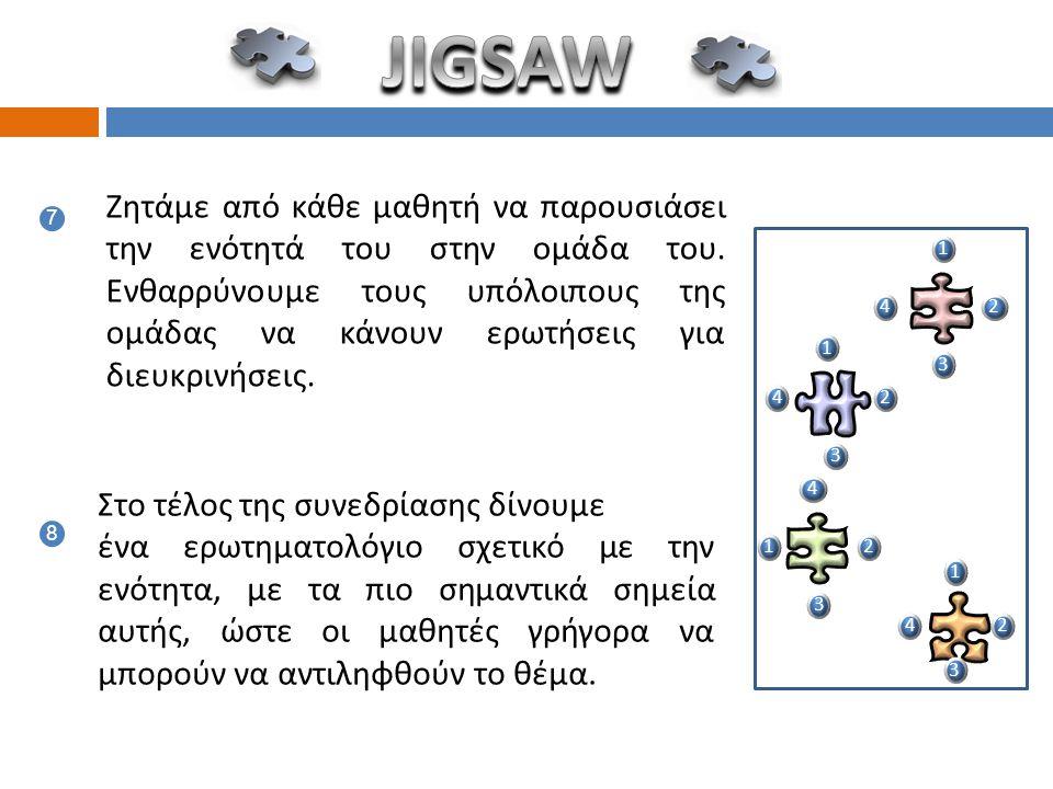 5 ενότητες 5 ομάδες σύνθεσης 5 ομάδες ειδίκευσης 5 3 1 2 1 3 4 5 1 3 4 2 1 5 4 2 5 3 4 2