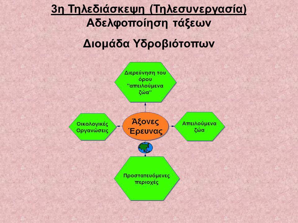 3η Τηλεδιάσκεψη (Τηλεσυνεργασία) Αδελφοποίηση τάξεων Διομάδα Υδροβιότοπων