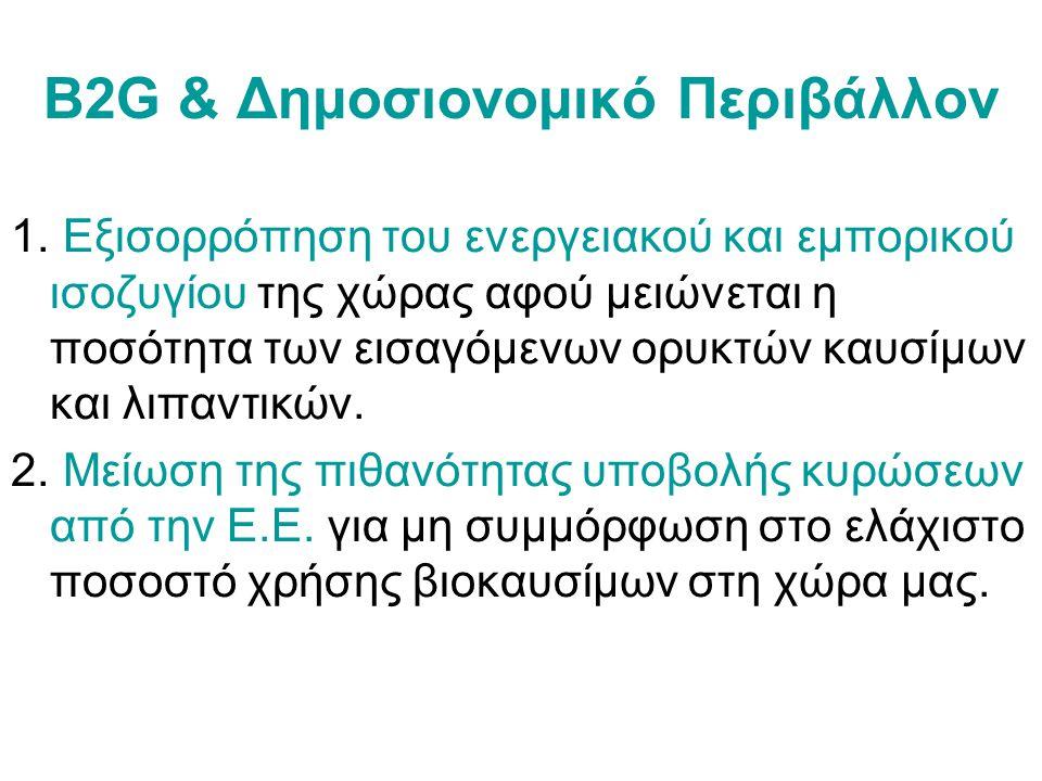B2G & Δημοσιονομικό Περιβάλλον 1.