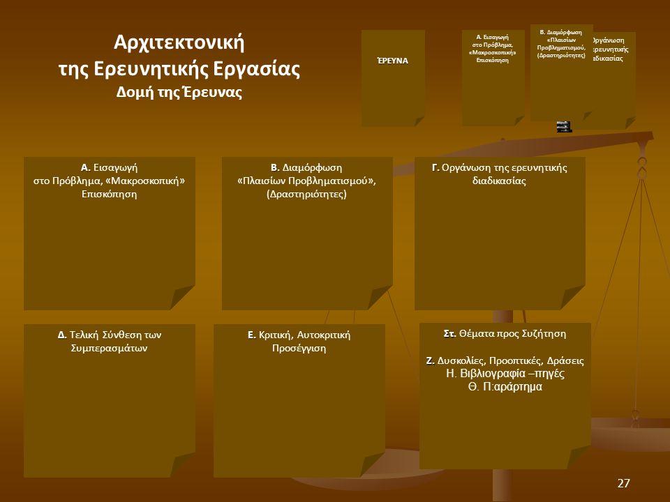 27 Στ Στ.Θέματα προς Συζήτηση Ζ. Ζ. Δυσκολίες, Προοπτικές, Δράσεις Α.