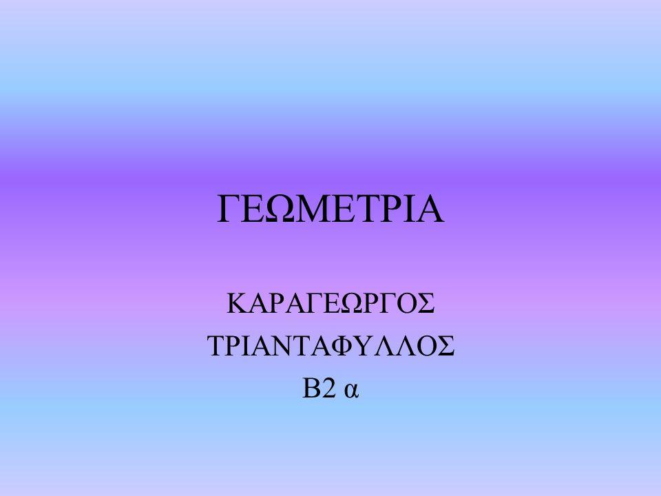 ΓΕΩΜΕΤΡΙΑ ΚΑΡΑΓΕΩΡΓΟΣ ΤΡΙΑΝΤΑΦΥΛΛΟΣ Β2 α
