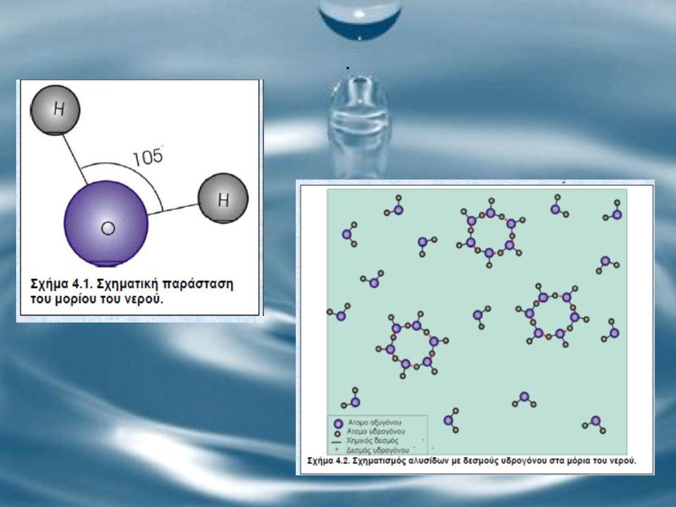 Το νερό έχει ποικίλη χημική δράση.