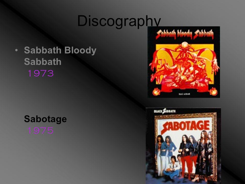 Discography Sabbath Bloody Sabbath 1973 Sabotage 1975