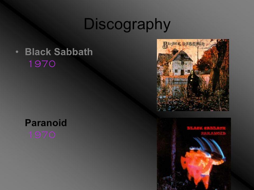 Black Sabbath 1970 Paranoid 1970
