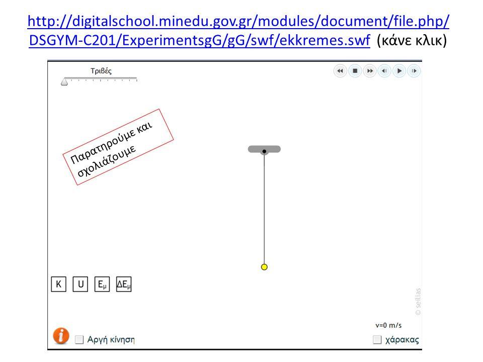 http://digitalschool.minedu.gov.gr/modules/ebook/show.php/D SGYM-B200/530/3512,14407/unit=6 http://digitalschool.minedu.gov.gr/modules/ebook/show.php/D SGYM-B200/530/3512,14407/unit=6 (ενεργοποίησε τον παραπάνω υπερσύνδεσμο) Παρατηρούμε και σχολιάζουμε