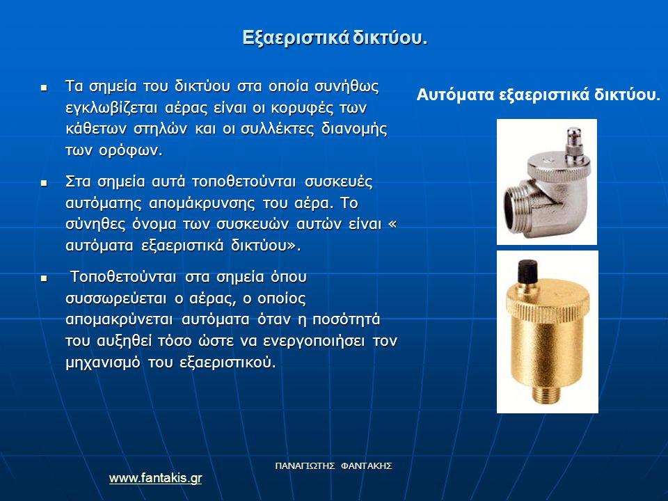 www.fantakis.gr ΠΑΝΑΓΙΩΤΗΣ ΦΑΝΤΑΚΗΣ Εξαεριστικά δικτύου.