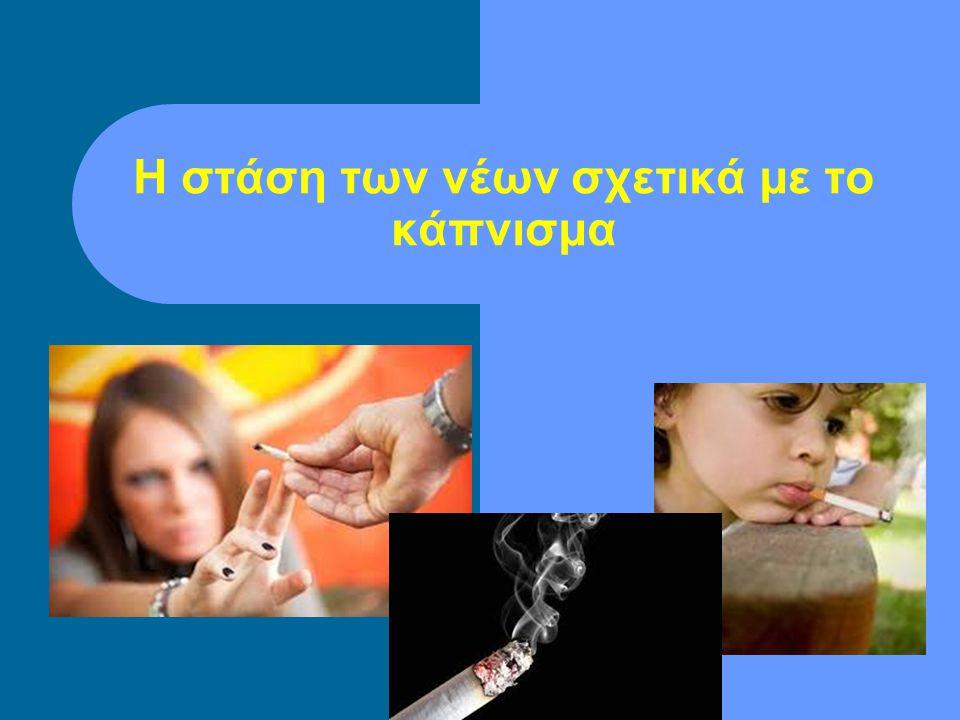 Η στάση των νέων σχετικά με το κάπνισμα
