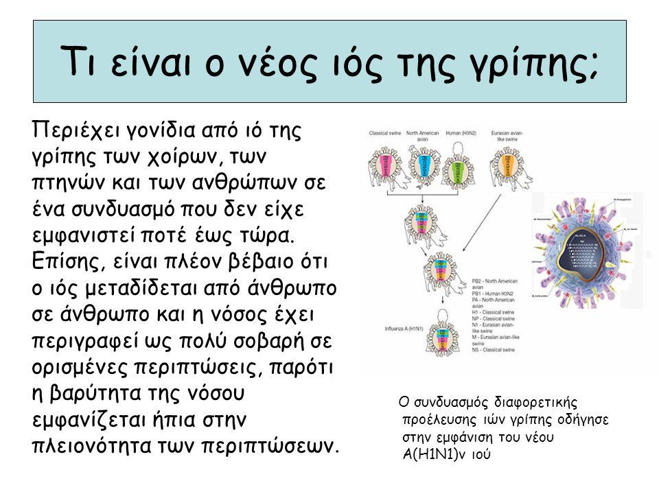 Τι είναι ο νέος ιός της γρίπης; Περιέχει γονίδια από ιό της γρίπης των χοίρων, των πτηνών και των ανθρώπων σε ένα συνδυασμό που δεν είχε εμφανιστεί πο