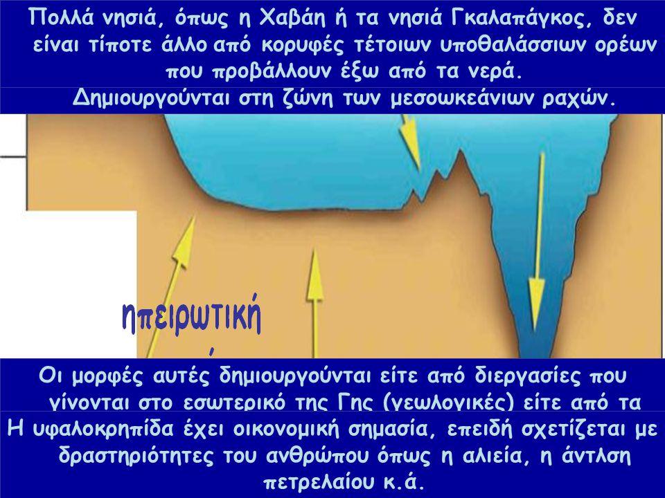 Β 3.1 Μια βουτιά στον ωκεανό... Ο βυθός δεν είναι ομοιόμορφος. Έχει βουνά, λόφους, πεδιάδες, λεκάνες και βαθιά φαράγγια, όπως περίπου και η στεριά. Οι