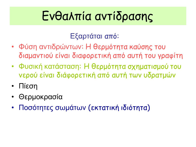 Η θερμοχημεία χρησιμοποιεί θερμοχημικές εξισώσεις Π.χ.
