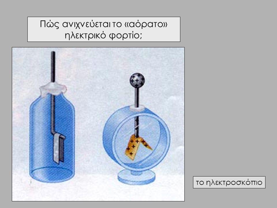 Πώς ανιχνεύεται το «αόρατο» ηλεκτρικό φορτίο; το ηλεκτροσκόπιο