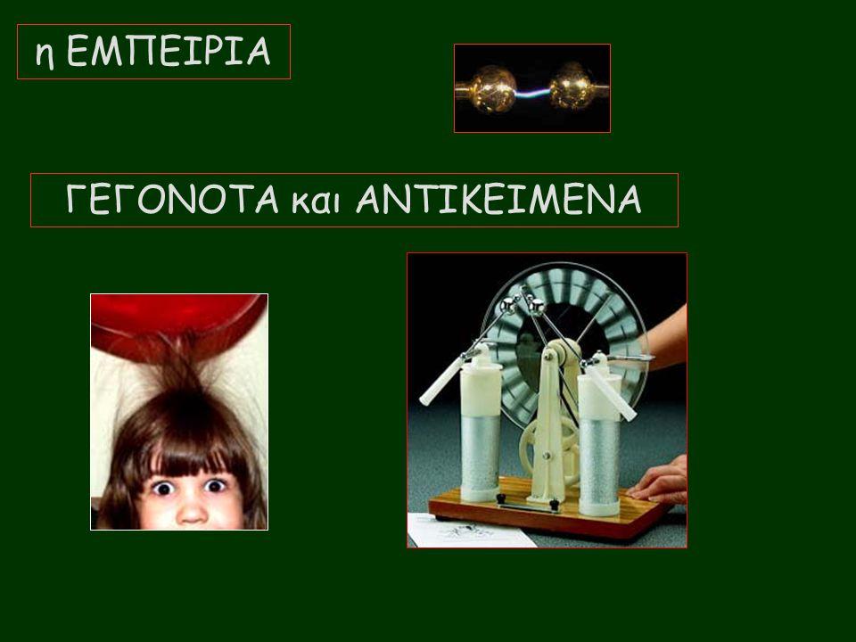 ΓΕΓΟΝΟΤΑ και ΑΝΤΙΚΕΙΜΕΝΑ η ΕΜΠΕΙΡΙΑ
