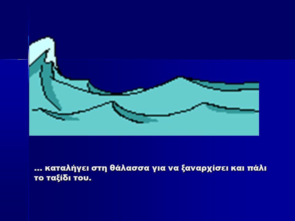 … καταλήγει στη θάλασσα για να ξαναρχίσει και πάλι το ταξίδι του.