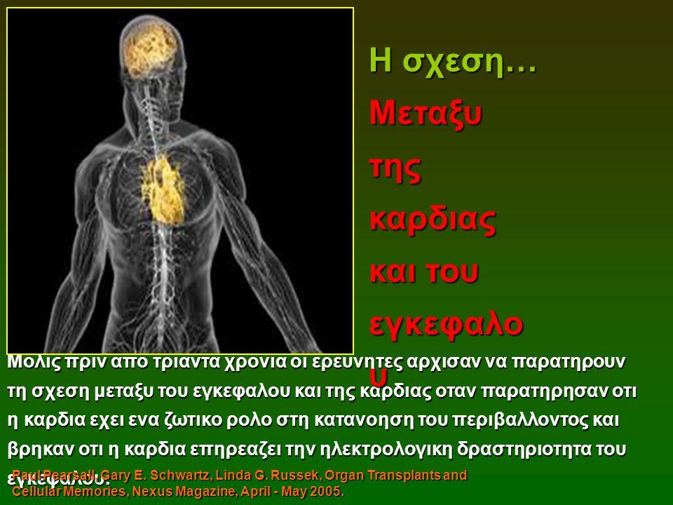 Μολις πριν απο τριαντα χρονια οι ερευνητες αρχισαν να παρατηρουν τη σχεση μεταξυ του εγκεφαλου και της καρδιας οταν παρατηρησαν οτι η καρδια εχει ενα