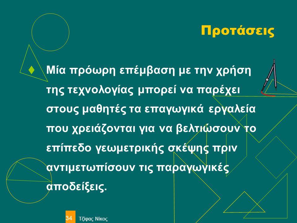 Τζίφας Νίκος 34 Προτάσεις  Μία πρόωρη επέμβαση με την χρήση της τεχνολογίας μπορεί να παρέχει στους μαθητές τα επαγωγικά εργαλεία που χρειάζονται για