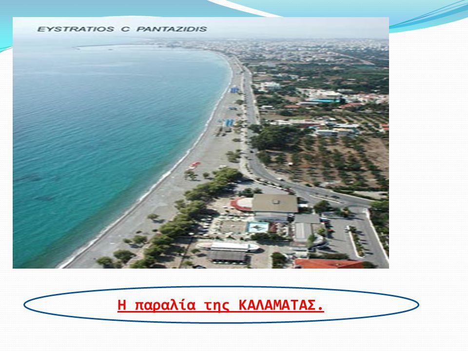 Η παραλία της ΚΑΛΑΜΑΤΑΣ.