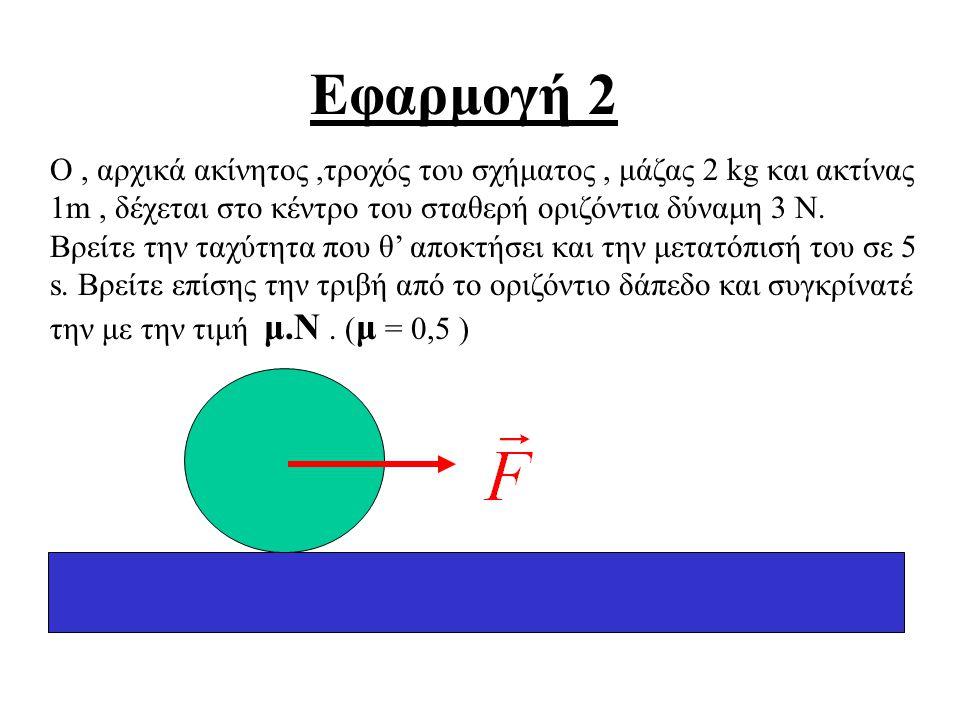 Αν ένα σώμα εκτελεί σύνθετη κίνηση τότε : 1. Σημειώνουμε τις δυνάμεις σε κάθε σώμα του προβλήματος. 2. Παίρνουμε δύο κάθετους άξονες, xx΄ και yy΄, έτσ