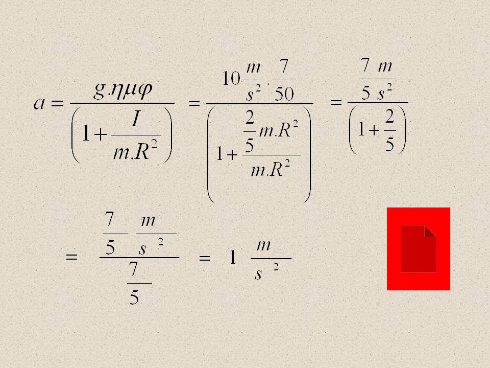Ποια επιτάχυνση θα είχαν οι σφαίρες αν ημφ = 0,14 ;