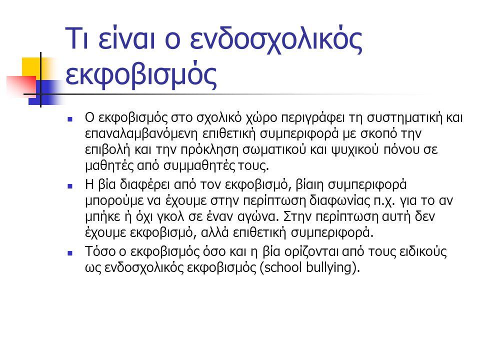 Αιτίες φαινομένου(από στοιχεία ερευνών) Φτώχεια και δύσκολες συνθήκες διαβίωσης Ανάπτυξη εφήβου Φύλο Συγκρούσεις και βία στην οικογένεια Πηγή: Κοινωνική και συναισθηματική αγωγή στο σχολείο, Χρυσή Χατζηχρήστου,Τυπωθήτω, τεύχος 5, σελ.10, 2004, Αθήνα.
