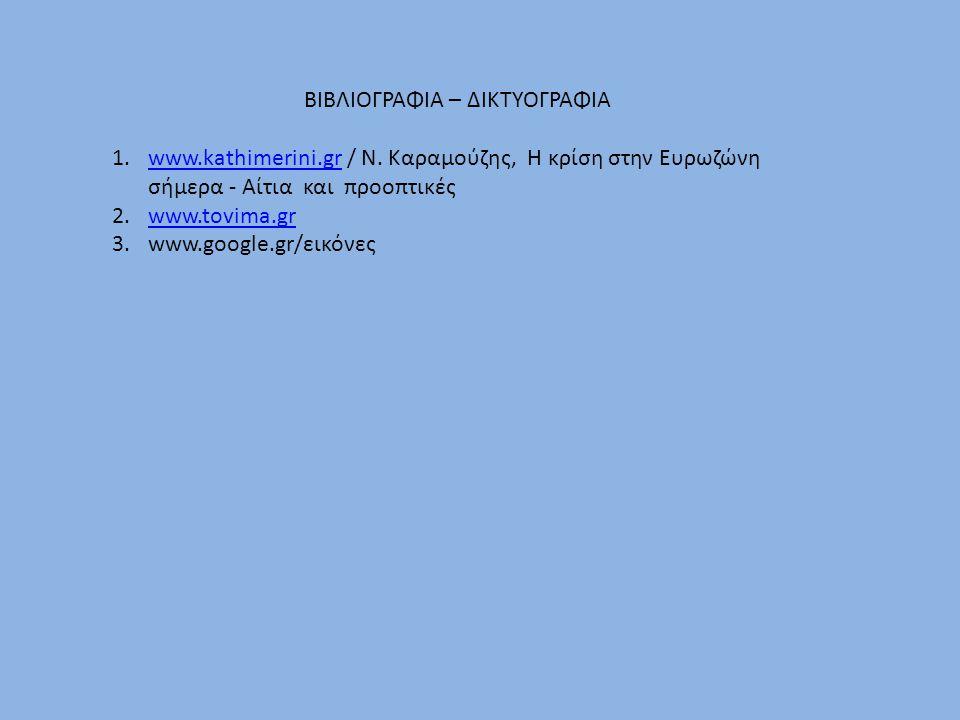 ΒΙΒΛΙΟΓΡΑΦΙΑ – ΔΙΚΤΥΟΓΡΑΦΙΑ 1.www.kathimerini.gr / Ν.