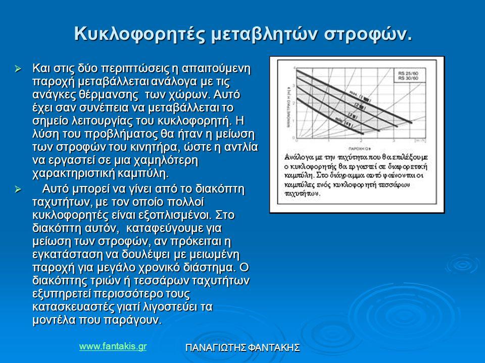 www.fantakis.gr ΠΑΝΑΓΙΩΤΗΣ ΦΑΝΤΑΚΗΣ  Και στις δύο περιπτώσεις η απαιτούμενη παροχή μεταβάλλεται ανάλογα με τις ανάγκες θέρμανσης των χώρων. Αυτό έχει