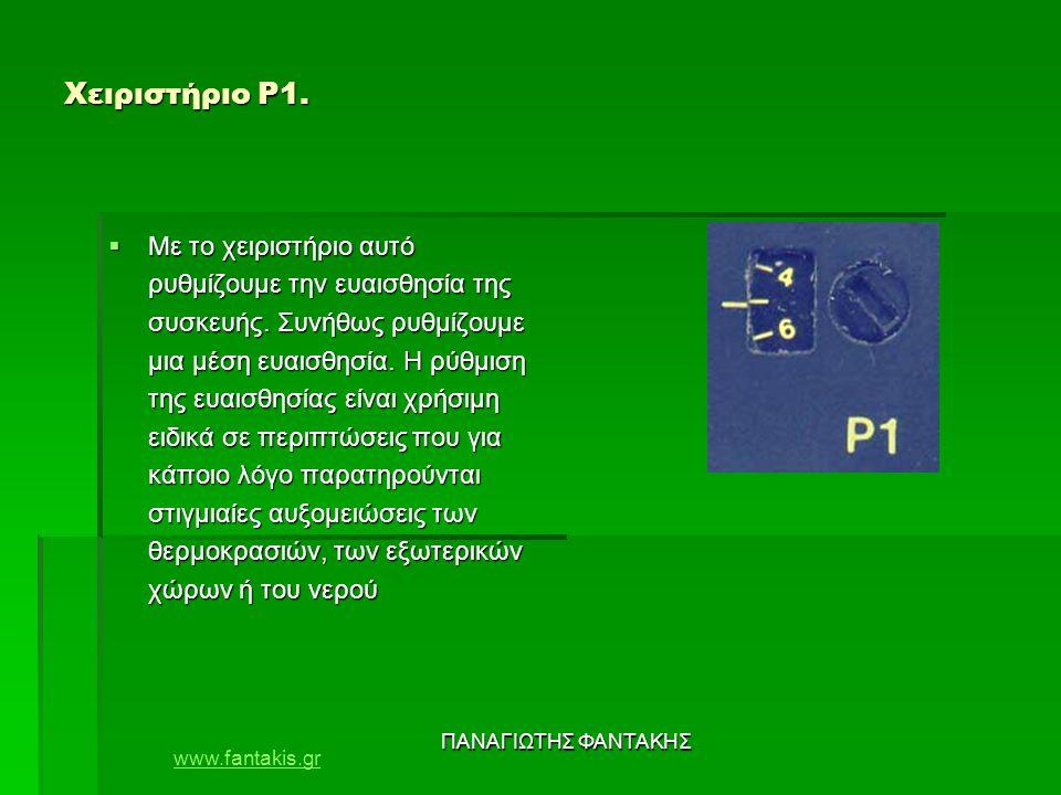 www.fantakis.gr ΠΑΝΑΓΙΩΤΗΣ ΦΑΝΤΑΚΗΣ Χειριστήριο Ρ1.