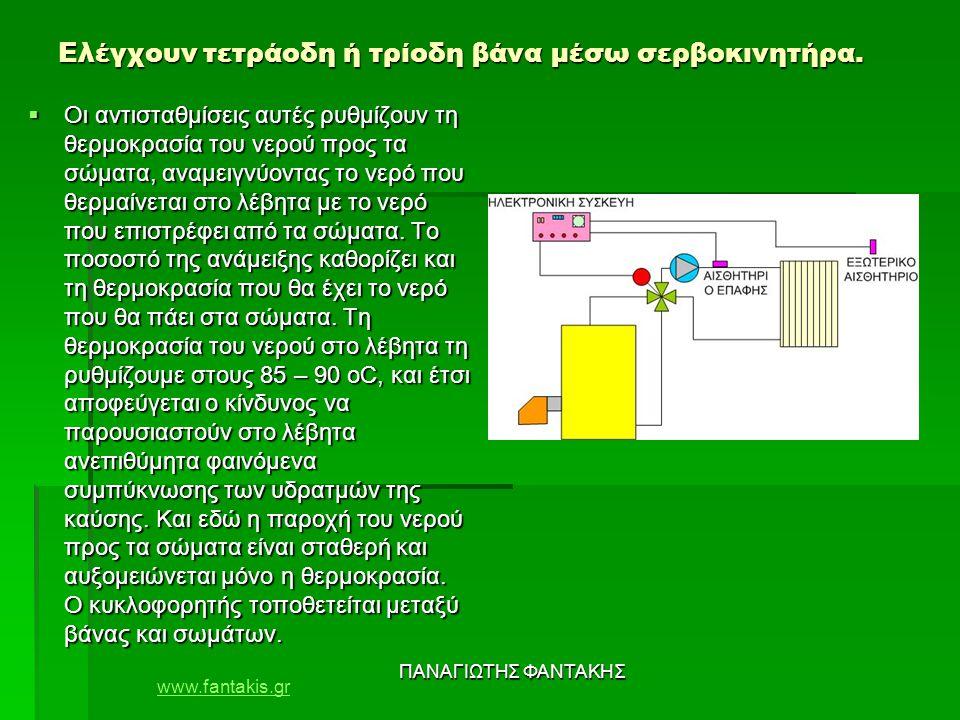 www.fantakis.gr ΠΑΝΑΓΙΩΤΗΣ ΦΑΝΤΑΚΗΣ Ελέγχουν τετράοδη ή τρίοδη βάνα μέσω σερβοκινητήρα.