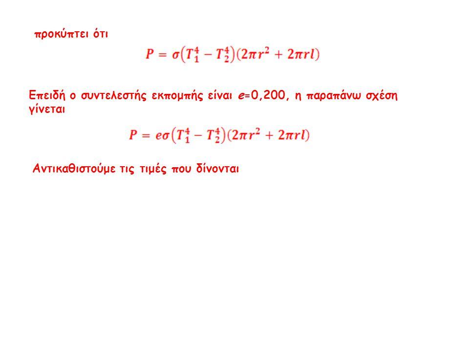 και από τον Νόμο των Stefan-Boltzmann προκύπτει η σχέση