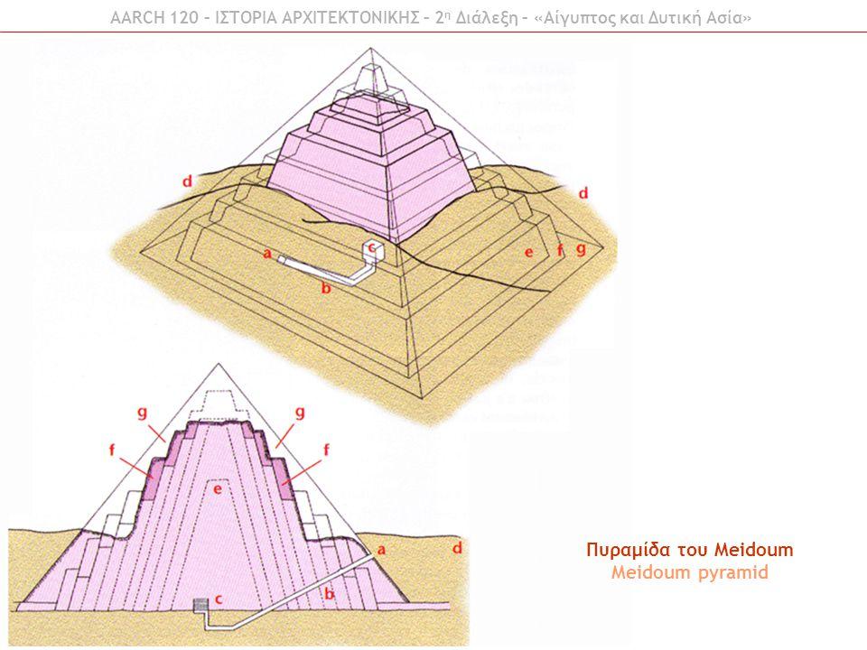 AARCH 120 – ΙΣΤΟΡΙΑ ΑΡΧΙΤΕΚΤΟΝΙΚΗΣ – 2 η Διάλεξη – «Αίγυπτος και Δυτική Ασία» Πυραμίδα του Zoser Zoser pyramid