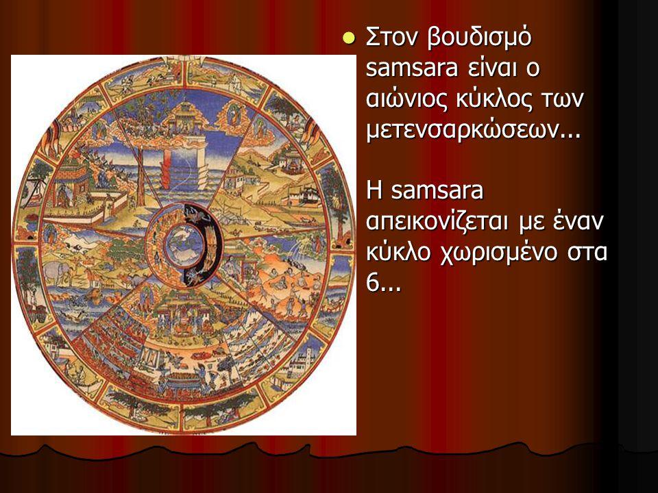 Στον βουδισμό samsara είναι ο αιώνιος κύκλος των μετενσαρκώσεων... Η samsara απεικονίζεται με έναν κύκλο χωρισμένο στα 6... Στον βουδισμό samsara είνα