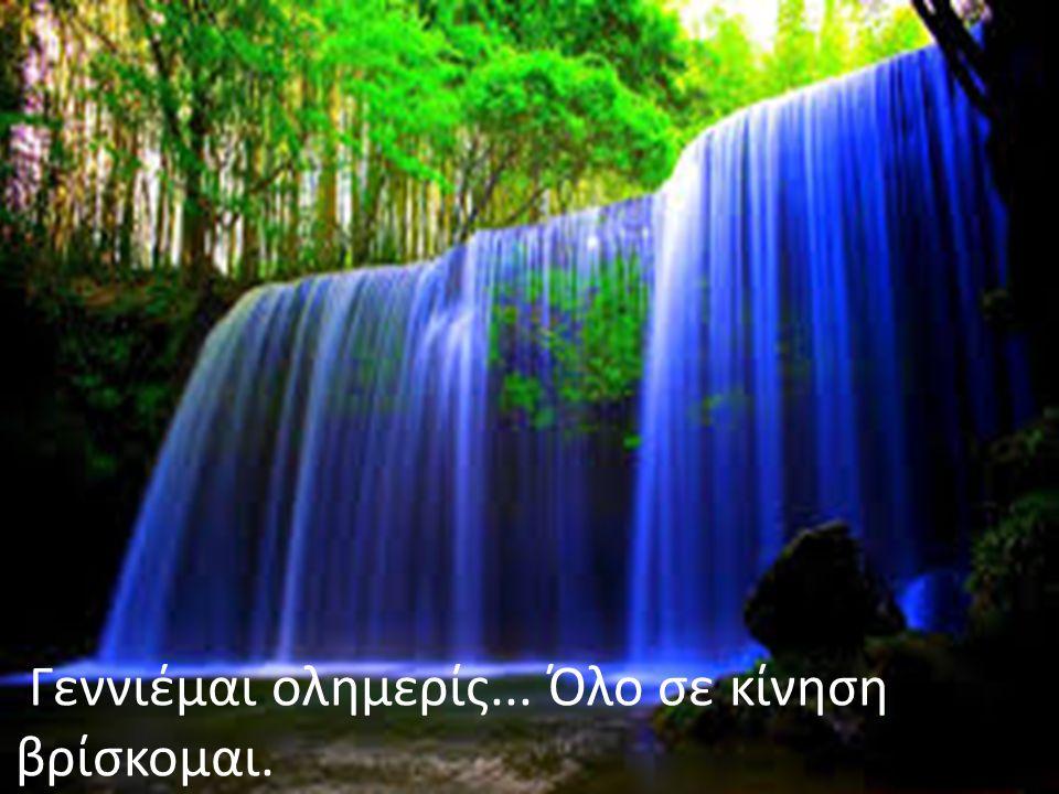 Είμαι το ποτάμι, η λίμνη, η θάλασσα, η βροχή, είμαι το ΝΕΡΟ!