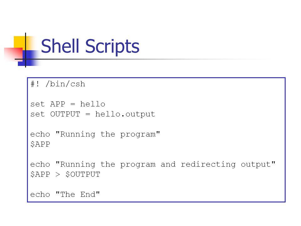 Shell Scripts #.