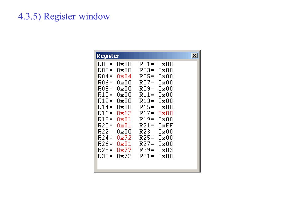 4.3.5) Register window