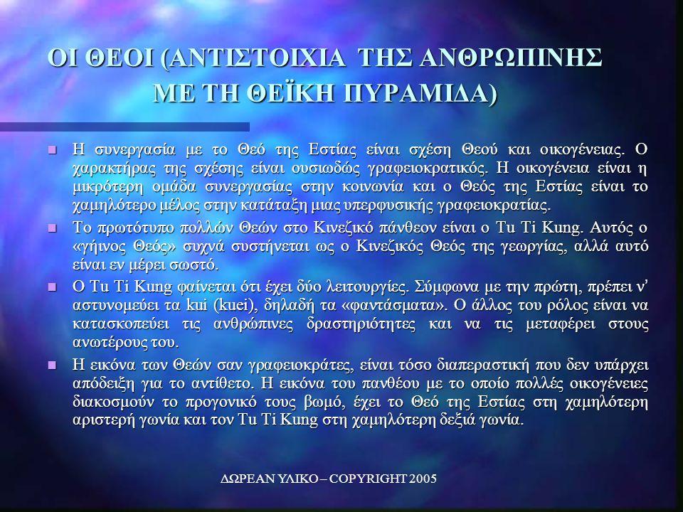ΔΩΡΕΑΝ ΥΛΙΚΟ – COPYRIGHT 2005 ΟΙ ΘΕΟΙ (ΑΝΤΙΣΤΟΙΧΙΑ ΤΗΣ ΑΝΘΡΩΠΙΝΗΣ ΜΕ ΤΗ ΘΕΪΚΗ ΠΥΡΑΜΙΔΑ) Η συνεργασία με το Θεό της Εστίας είναι σχέση Θεού και οικογένειας.