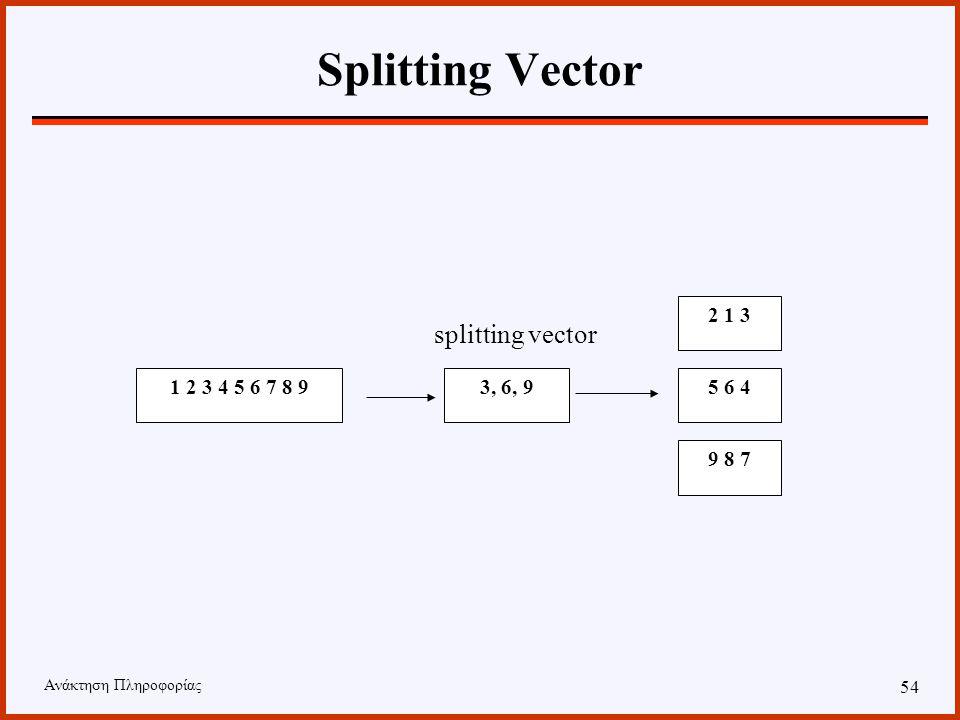 Ανάκτηση Πληροφορίας 53 Partitioned-Based Sorting Σε κάθε επεξεργαστή αντιστοιχεί ένα εύρος τιμών το οποίο καλείται να ταξινομήσει. Η εύρεση του εύρου